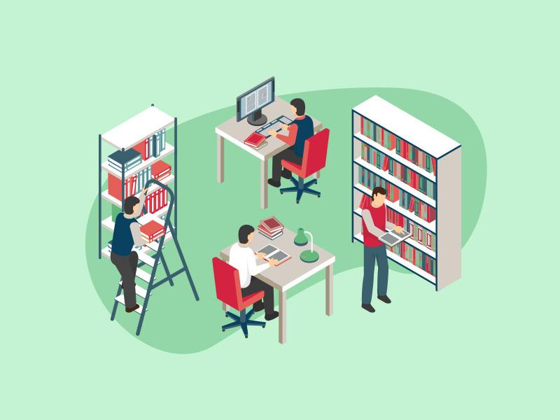 Ilustración préstamo interbibliotecario